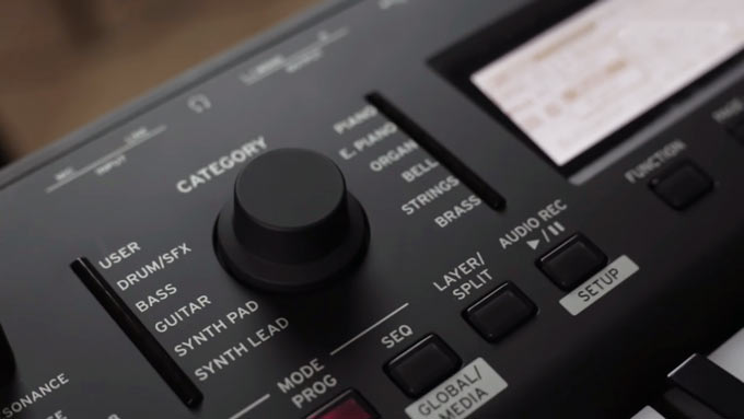 Korg Kross 2 encoder knob